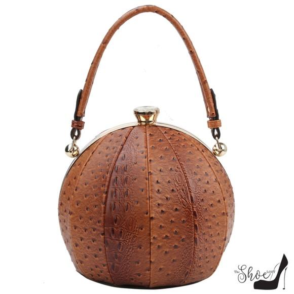 My Bag Lady Online Handbags - Ostrich & Alligator Round Ball handbag